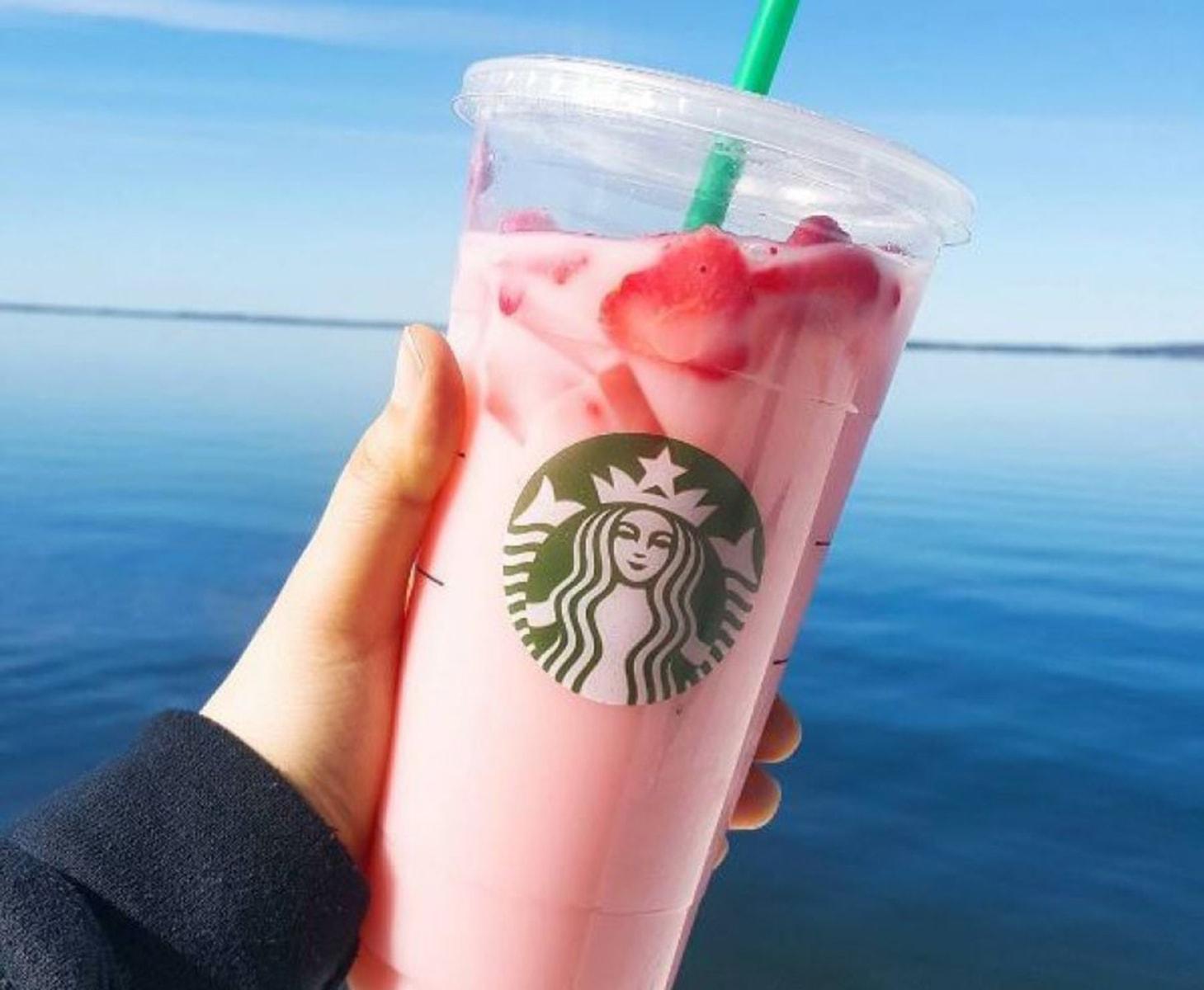 Pink Ombre Starbucks Drink