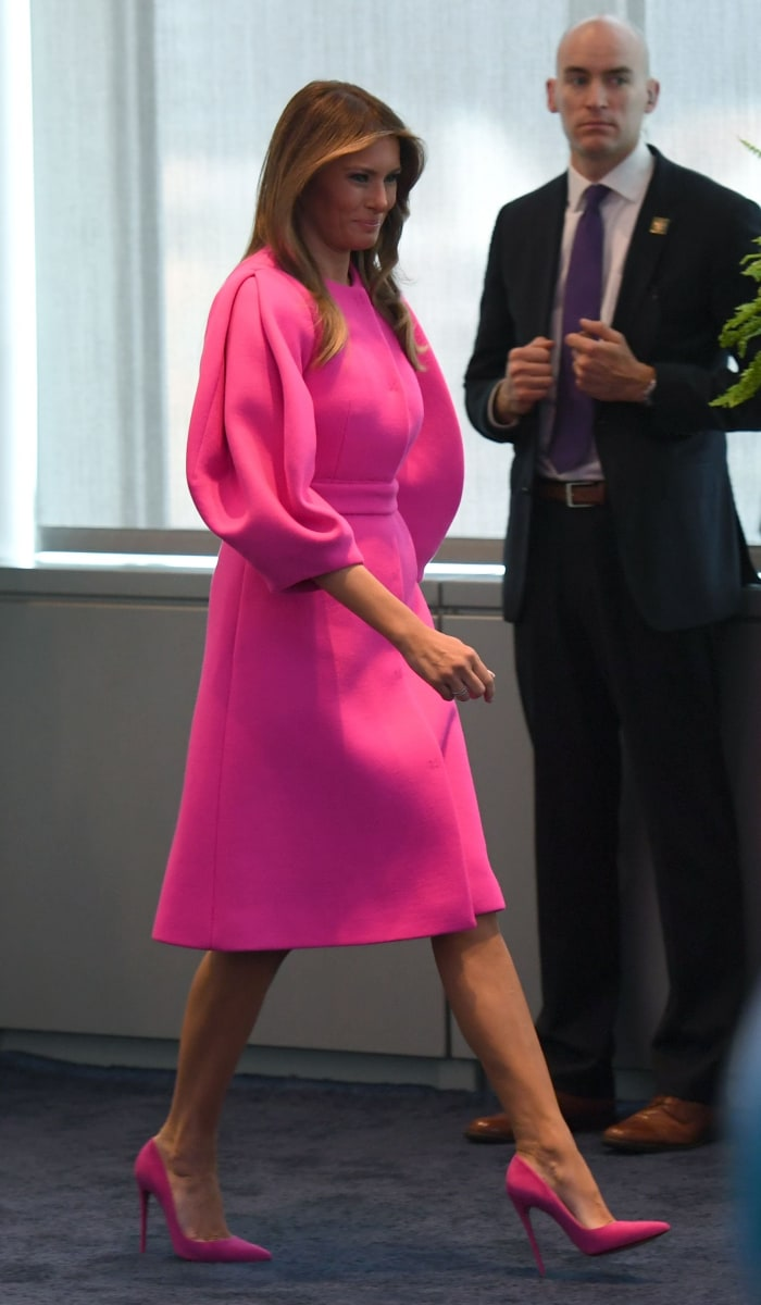 first lady melania trump donates her inaugural gown to the