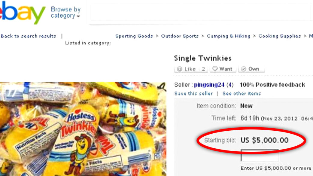 Twinkies selling for $5,000 on eBay? - TODAY.com