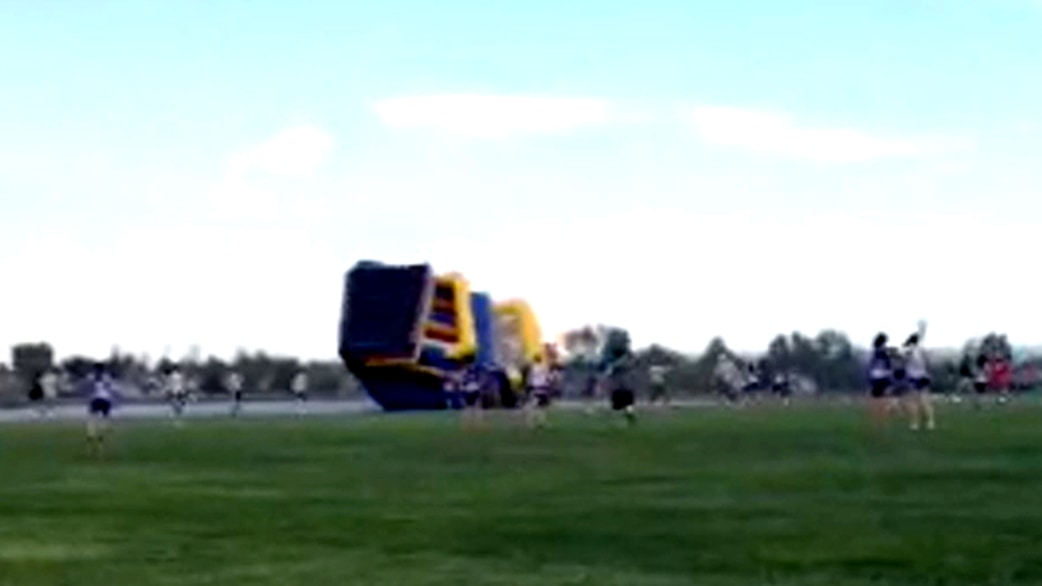 Away House Bounce House Flies Away