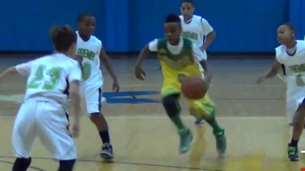 10 Year Old LeBron James Jr Shines On Basketball Court