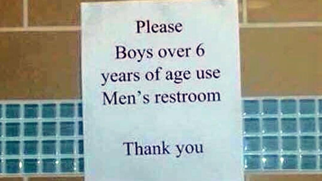 Bathroom Sign Texas Mall bathroom sign outside texas mall sparks outrage - today