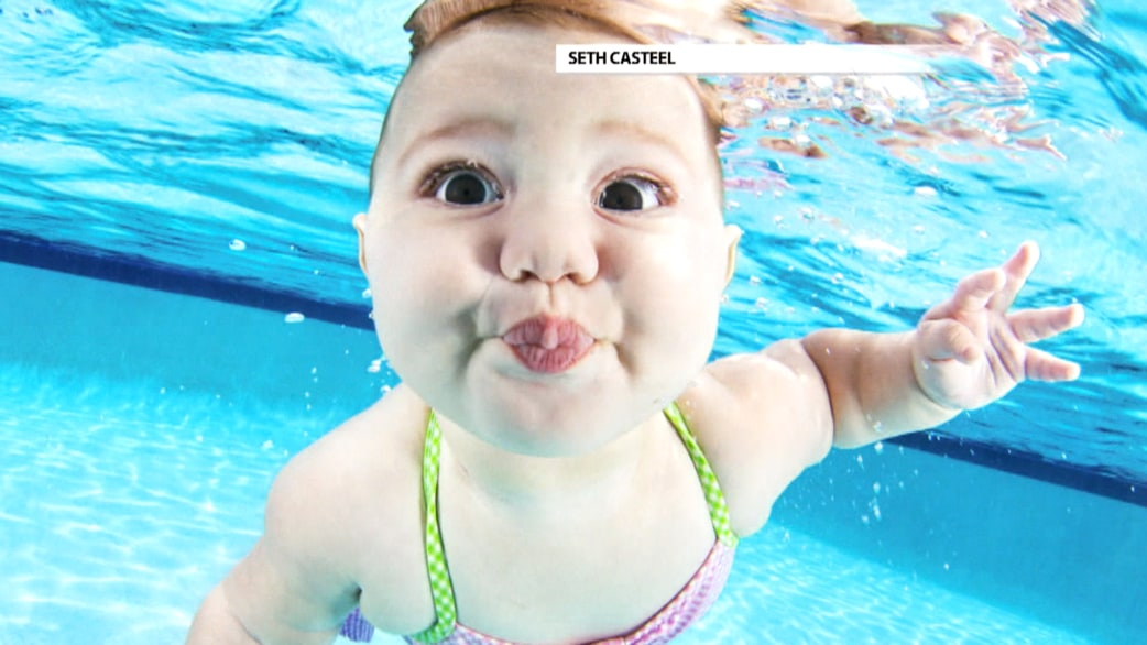 Underwater babies photos address drowning issue