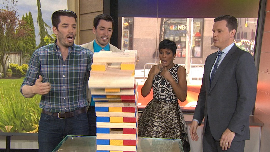 property brothers use household items to make family games todaycom - Where Are The Property Brothers