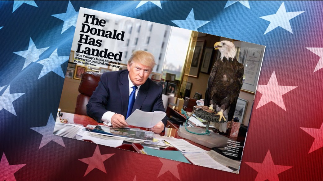 Image result for The American Eagle and Donald Trump