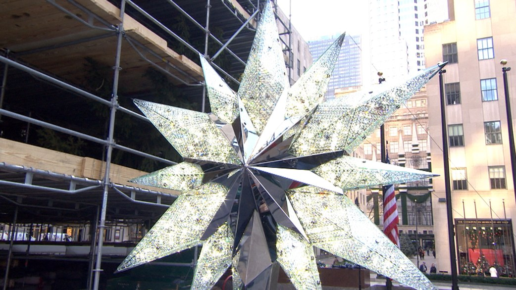 A first look at the Rockefeller Center Swarovski Christmas tree ...