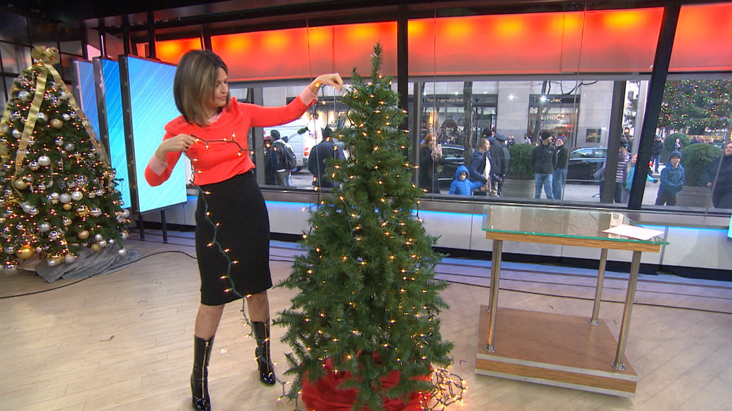 How To String Christmas Tree Lights Today Show : Should you be hanging your Christmas tree lights VERTICALLY?! - TODAY.com