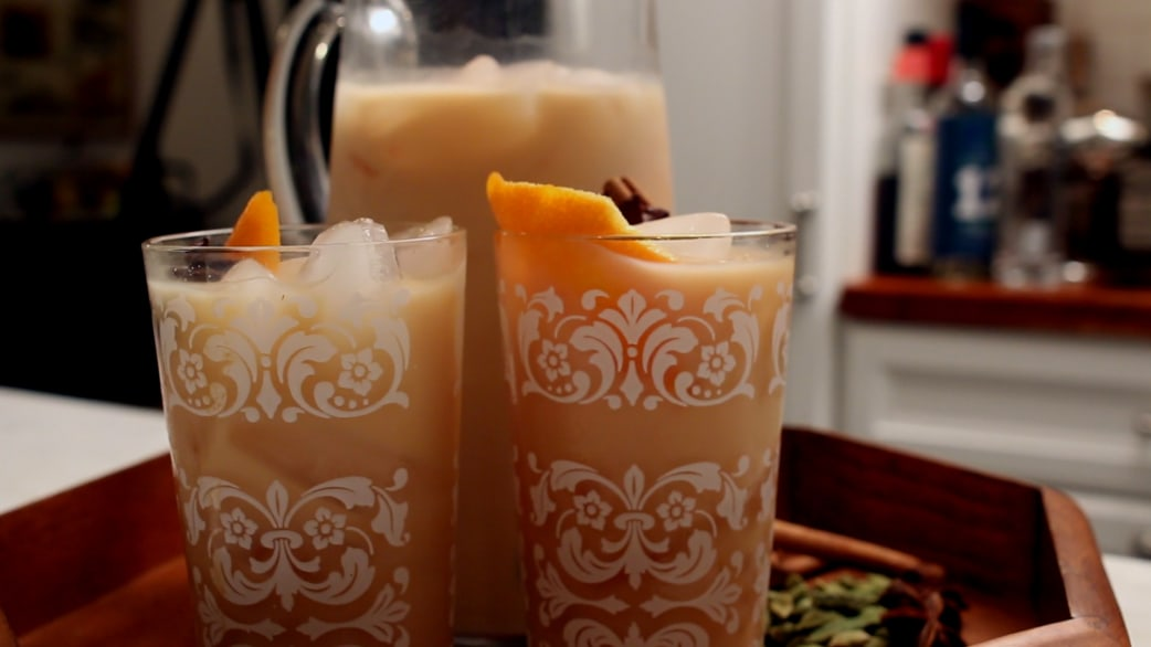 This spiked iced chai is the perfect pitcher cocktail for winter ...