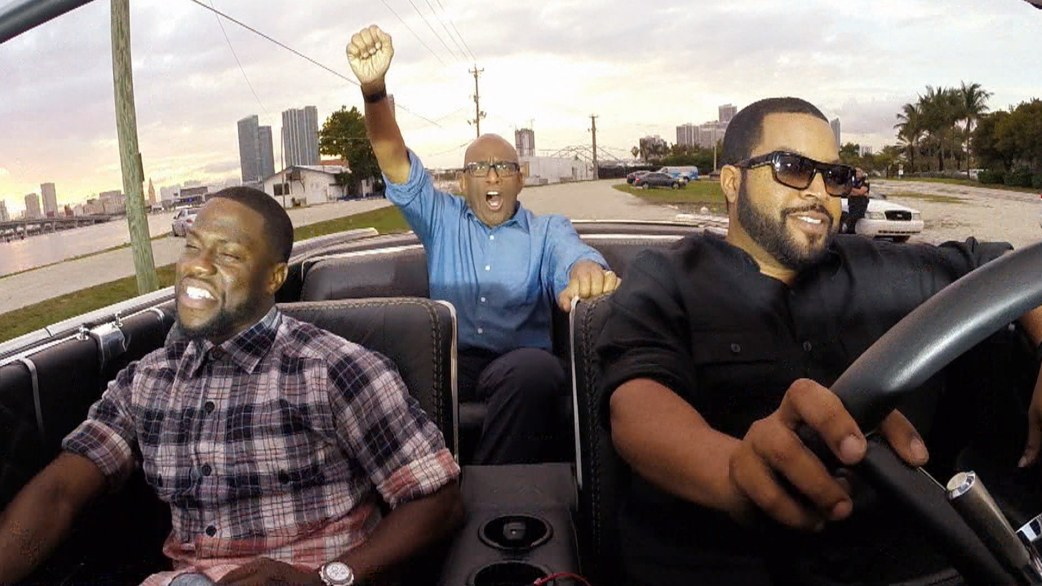 Ice Cube and Kevin Hart 'Ride Along' in a movie car with ...