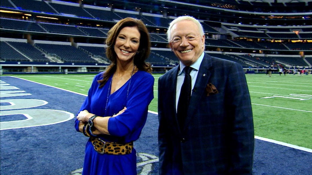 Charlotte Jones with Father Jerry Jones