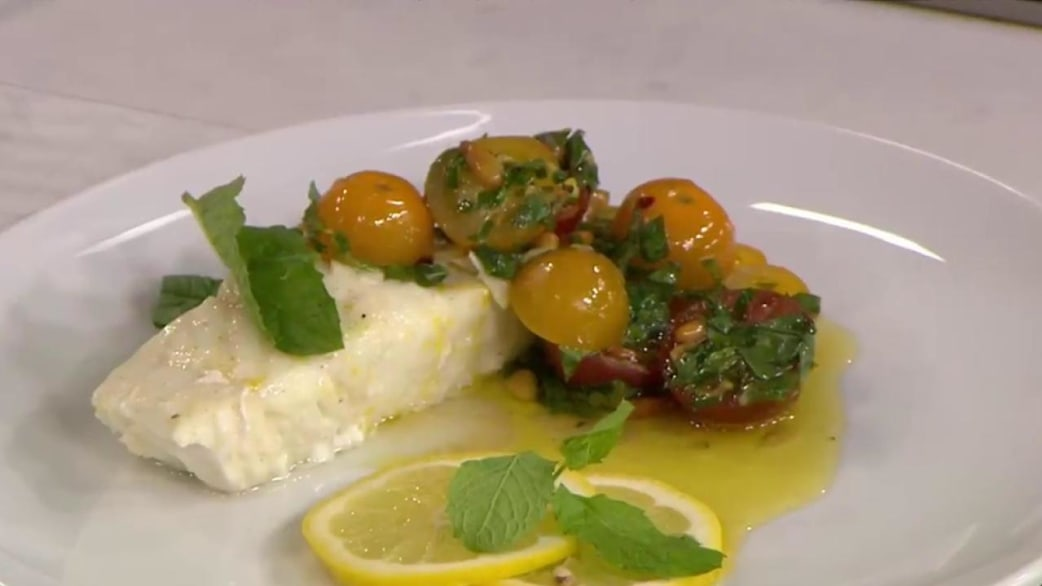 Grilled halibut with tomato chimichurri: A guilt-free ...