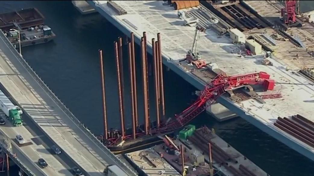 Overhead Crane New Jersey : Tappan zee bridge reopens after crane collapse today