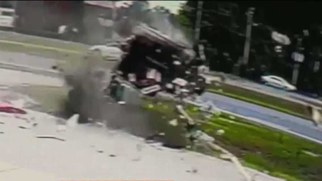 Scary rollover car crash caught on camera; amazingly, driver ...