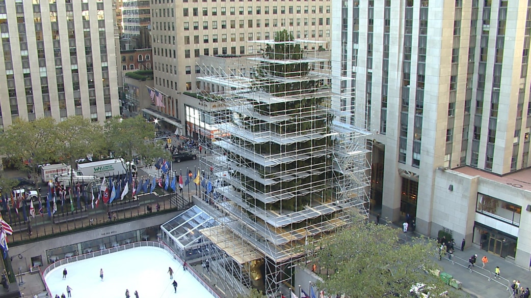 Watch the 94 foot rockefeller center christmas tree arrive for Weihnachtsbaum rockefeller center 2016