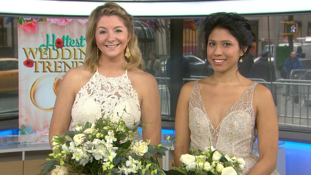 Hottest Wedding Trends Metallic Dress Cascading Bouquets And Acrobats Today