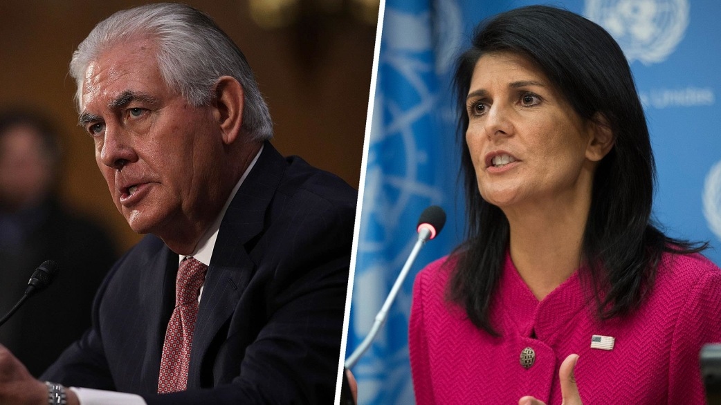 Image result for IMAGES OF NIKKI HALEY AND REX TILLERSON
