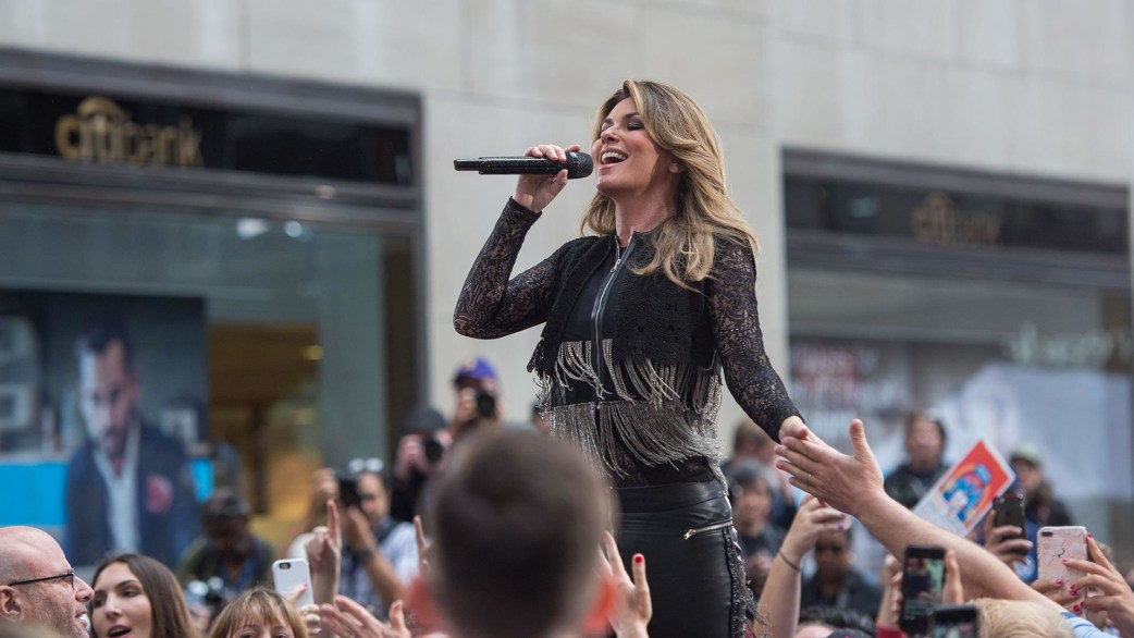 Watch Shania Twain sing 'Life's About To Get Good' on the TODAY plaza - TODAY.com