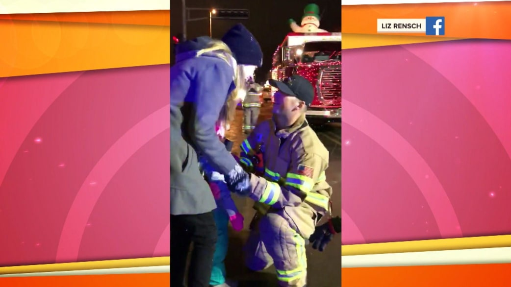 Watch Firefighter Propose To His Girlfriend In The Middle Of A
