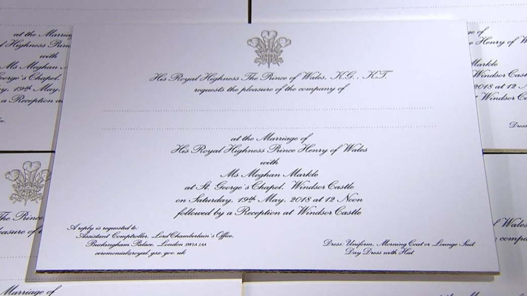 Image result for prince harry meghan markle wedding invitation