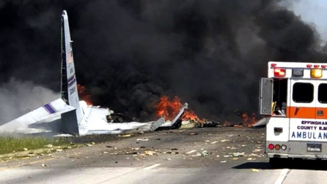 Deadly crash of C-130 military transport caught on video - TODAY.com