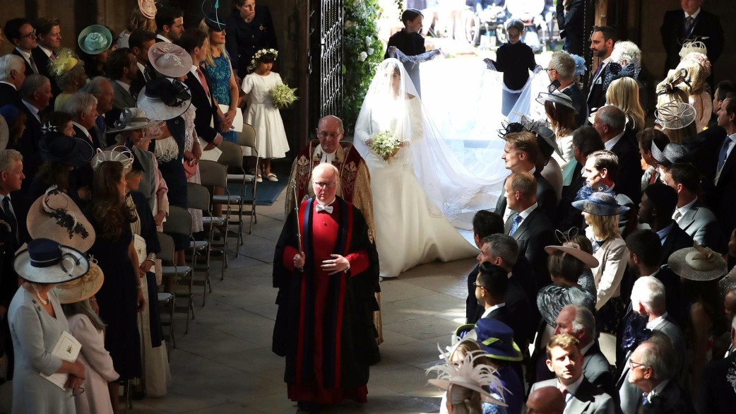 Image result for meghan walked down aisle