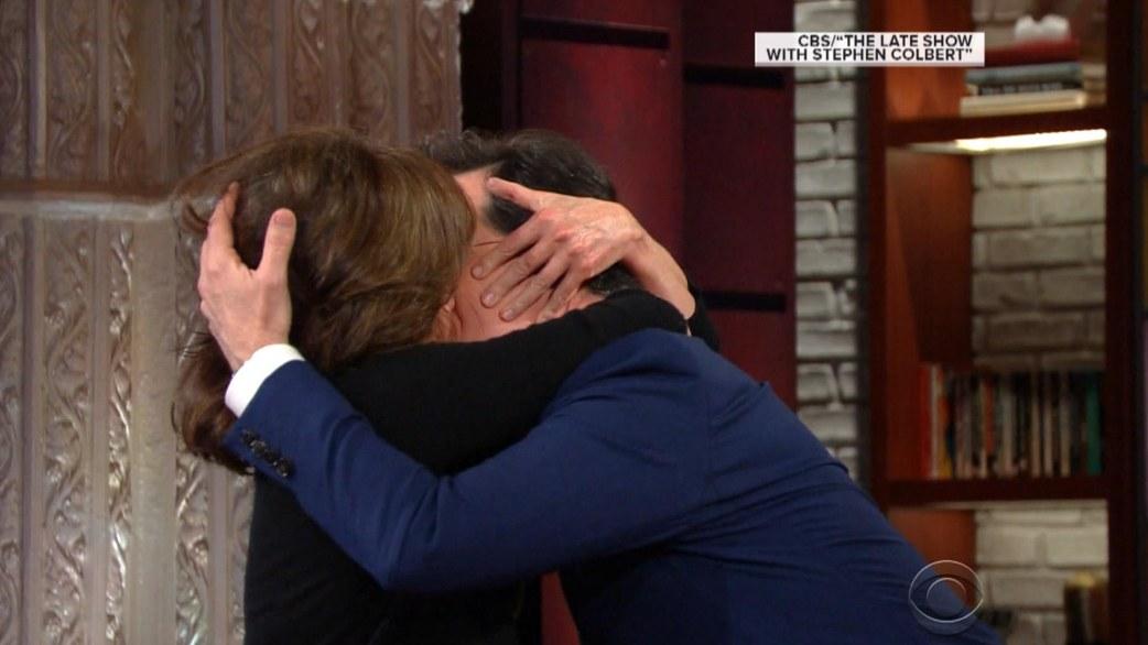 Sally Field Kisses Stephen Colbert A La Helen Mirren