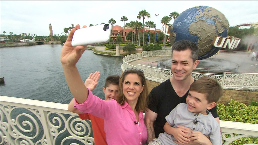 Natalie Morales and her husband Joe Rhodes with their children