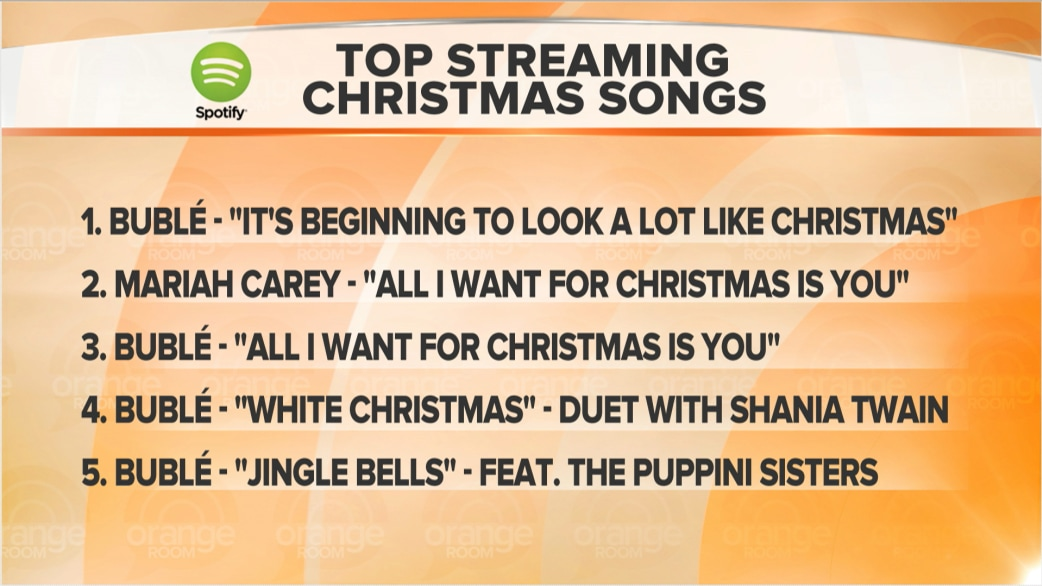 michael buble tops list of streamed christmas songs - Best Christmas Songs Ever List