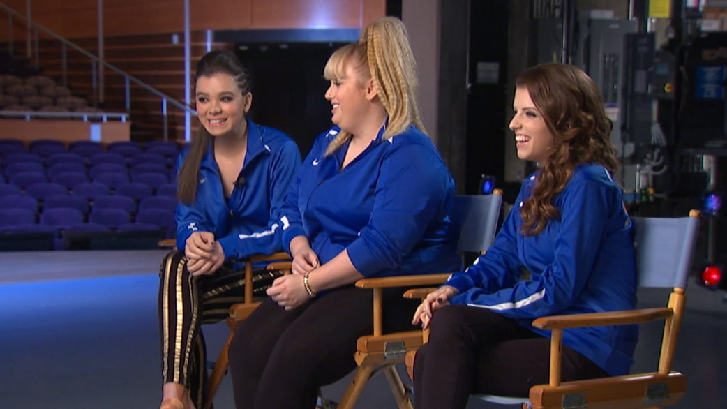 Natalie goes behind the scenes of pitch perfect 2 - Pitch perfect swimming pool scene ...