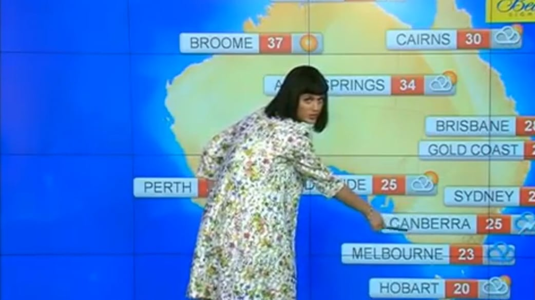 Here S Katy Perry With The Weather In Australia