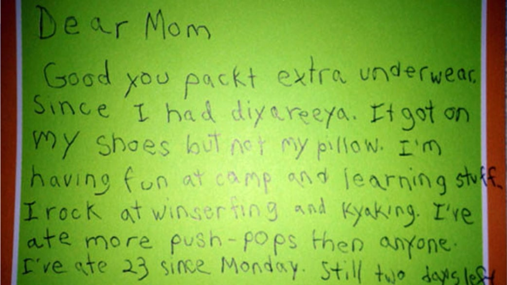 Letter from son at camp to mom goes viral TODAY