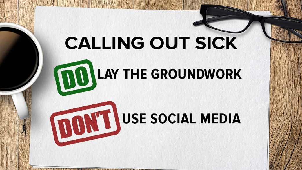 Calling Out Sick From Work? Do This, Not That   TODAY.com  How To Call Out Of Work