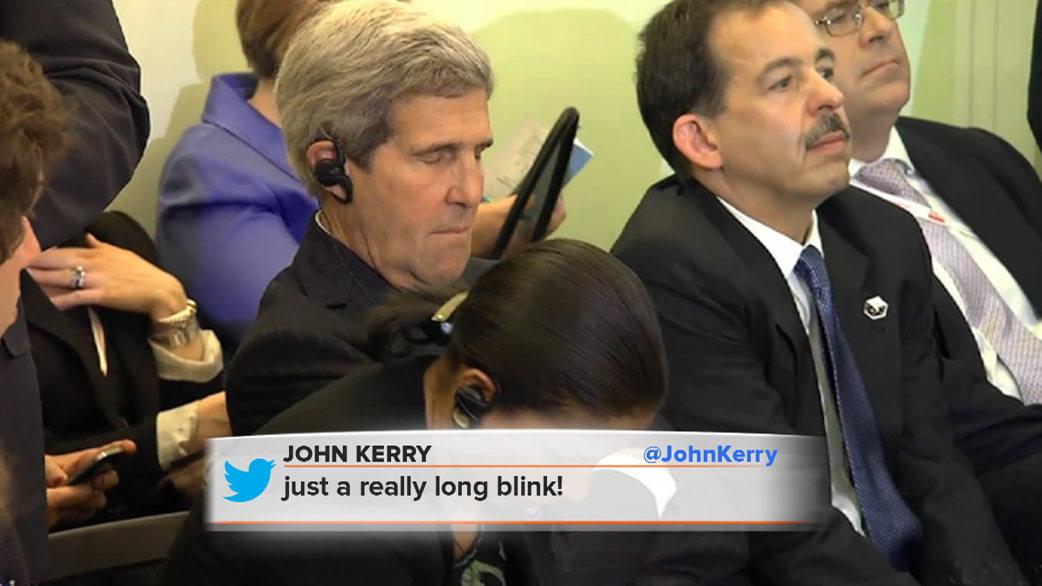 john kerry  i wasn u2019t sleeping in meeting