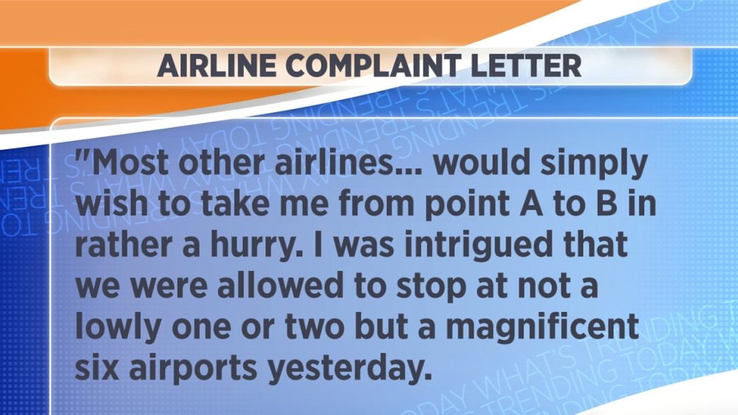 complaint letter to airline