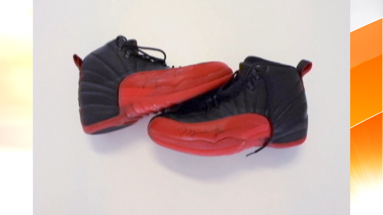 online retailer 419f7 42fb1 Michael Jordan's 'flu game' shoes sell $105,000