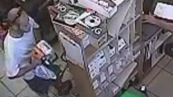Shoplifter stuffs chain saw in his pants