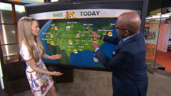 Amanda Seyfried does the weather with Al Roker