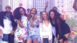 Little Mix performs 'Black Magic' on the plaza