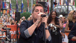 Rob Thomas performs 'Hold On Forever' on the TODAY plaza