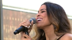 Jordin Sparks performs 'They Don't Give' on TODAY plaza