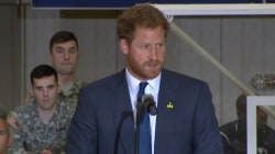 Prince Harry meets with President Obama, gets emotional about his service