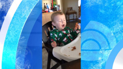 Baby tries bacon for the first time, seems to be (understandably) elated