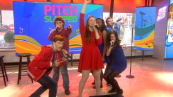 A cappella singers from 'Pitch Slapped' perform 'Walking on Sunshine'