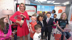 Kids take over Orange Room on Take Our Daughters & Sons to Work Day