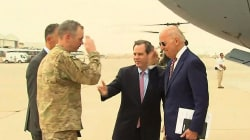 Watch Joe Biden Arrive in Iraq