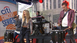 "The Band Perry performs ""Better Dig Two"" on the TODAY plaza"