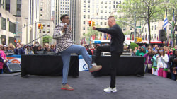 Kid 'n Play kick it old school on the TODAY plaza