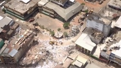 Aerials Show Ecuador Quake Destruction in Portoviejo & Crucita