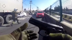 Watch as Chilean Police Chase Armed Robbers