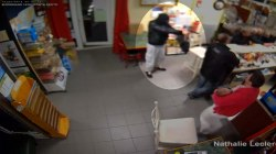 Surveillance Camera Captures Foiled Armed Robbery in France